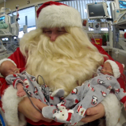 Santa visits St. Alexius Health