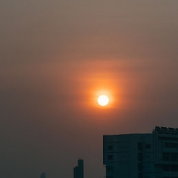 How is the poor air quality affecting daily routines?